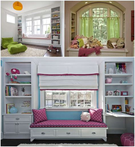 Kids Window Seat With Storage